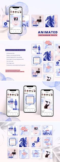ANIMATED Instagram Posts – Bold by AgataCreate on @creativemarket