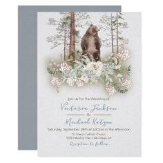 Woodland Watercolor Forest Wedding invitations how to address wedding invitations, onesis invitations, wedding invitations ticket #invitationonly #InvitationsPH #invitationtoiran, 4th of july party