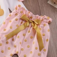 Gold Bunny Baby Girl Outfit