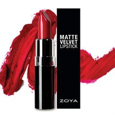 Zoya Red MatteVelvet Lipstick: The MatteVelvet Red Lipstick by Zoya is a classic, cool-toned red with a velvety matte finish. The signature shade was inspired by Zoya Posh and is everything you could ever want in a matte lipstick - creamy, long-wearing, and pigmented with a flawless finish.