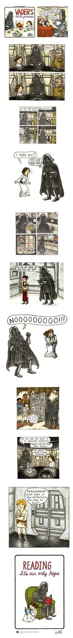 (Vader's Little Princess by Jeffrey Brown)
