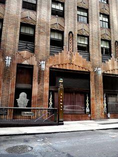 art deco building at 51st street, #newyork new york, summer 2012