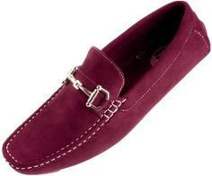 Amali Mens Burgundy Plush Microfiber Loafer Driving Shoe with Silver Buckle Style Walken-175Amali Presents Style Walken: Burgundy Plush Microfiber Slip On Driving Shoe with Decorative Silver Horse bit Buckle!This Classic Style Driving Shoe with Silver Buckle Style is a Sleek addition to any outfit!Slip your feet into a pair of Comfortable AND Fashion Forward Footwear!High …