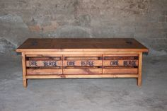 6 old crate coffee table