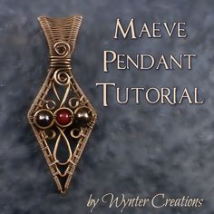 Learn to create a beautiful, regal pendant with this tutorial from Wynter Creations!  With 24 pages, and over 70 high-definition, full-color photos and detailed instructions for every step, this tutorial takes you through the design from start to finish. You'll receive the tutorial in the form of a .pdf digital download file.