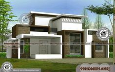 Farmhouse Plans One Story with Low Budget Ultra Modern Home Designs Indian Home Design, Kerala House Design, Free House Plans, Ranch House Plans, Dream Home Design, Modern House Design, Small Dream Homes, Ultra Modern Homes, Villa Plan