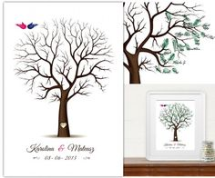 Ślub - inne-Drzewo Wpisów gości Duży format 50x70cm