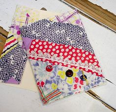 Patchwork Quilt Card Upcycled Greeting Card by ITSYOURCOUNTRY, $7.99