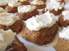 Pumpkin Gems with cream cheese frosting.