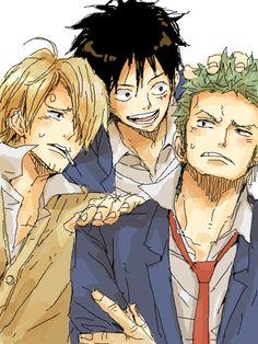 One Piece-Monster Trio-Sanji, Luffy, and Zoro