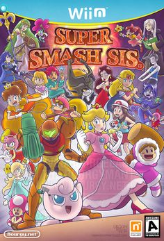 thebourgyman: I think deep inside we'd all love to have a Smash game with an all-female cast. That would seriously kick ass. Take notes, Nintendo! Can you name all characters present here? Super Smash Bros Memes, Nintendo Super Smash Bros, Geeks, Creepypasta Anime, Touko Pokemon, Videogames, Super Smash Ultimate, Nintendo Sega, Nintendo Games