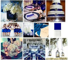 Just Wenderful Event Planning and Design: Inspiration Board :: Cobalt Blue Part II