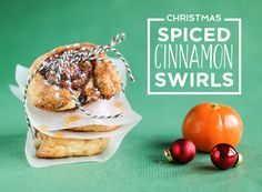 Christmas Spiced Cinnamon Swirls - Ideal for breakfast on Christmas day!  #cinnamon #swirls #pastry #sweettreat #cinnamonswirls #christmas #sweet #gousto