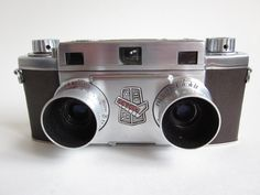 Vintage REVERE STEREO 33 Camera 35mm Wollensak Amaton Lens stereoscope photos