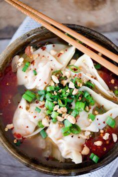Garlic and Ginger Shrimp Wonton Soup | With Salt and Pepper