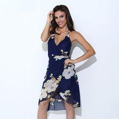 Deanna Floral V Neck Dress
