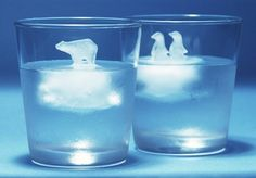 Clever and somewhat tragic, these ice cubes are adorable until they melt into your drink, dooming the tiny ice animals to a slow death as the temperature equalizes or a merciful end if you crunch them first.