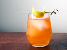 This mezcal drink, made with bittersweet Aperol and fresh lemon, can go two ways: with Angostura bitters, it's spicy-earthy-cinnamony. Or try chocolate bitters, which play up the sweet and bitter orange flavors in the Aperol.