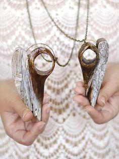 Wooden angels, rustic angel pendants, reclaimed wood, unique wooden jewelry Wooden Angel, Angel Pendant, Wooden Jewelry, Woodworking Projects, Angels, Pendants, Rustic, Unique, Country Primitive
