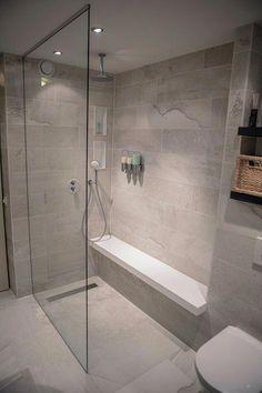 ideas bathroom shower makeover wet rooms for 2019 Shower Makeover, Bathroom Mirror Makeover, Bathroom Makeovers, Wainscoting Bathroom, Master Bathroom Shower, Small Bathroom, Natural Bathroom, Bathroom Ideas, Shower Ideas