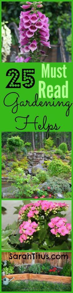 25 Must Read Gardening Helps
