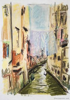 pastel sketch Venice