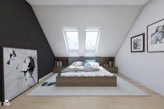 (Sochaczew) Projekt domu jednorodzinnego 8 - Sypialnia, styl skandynawski - zdjęcie od BAGUA Pracownia Architektury Wnętrz