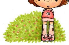 adding backgrounds - grass and bushes  + other great Copic tutorials..bookmark this page!