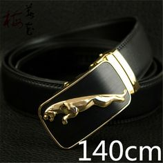 Aliexpress.com : Buy 140cm Designer Belts For Men High Quality 2016 Luxury Mens Genuine Leather Big Size Belt Automatic Jaguar Buckle Long Gold Strap from Reliable belt rhinestone suppliers on YanYang International Company Ltd.  | Alibaba Group Men's Fashion Brands, Men Fashion, Designer Belts, Jaguar, Leather Belts, Clothing Accessories, Men's Clothing, Alibaba Group, Waist Belts