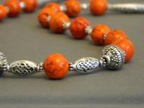 Orange Howlite Necklace.
