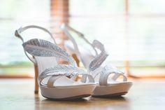 Silver wedding sandals | SouthBound Bride | http://www.southboundbride.com/elegant-forest-wedding-at-beloftebos-by-kobus-tollig Credit: Kobus Tollig