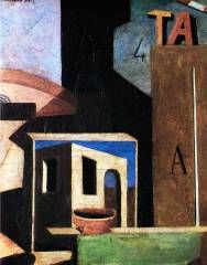 Carlo Carra. Composition with T.A. 1916.