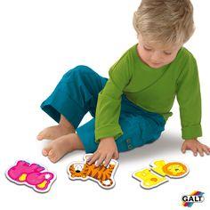 Puzzles infantiles - Selva GALT - Ref. 503031 Conjunto de 6 puzzles de dos piezas para los mas pequeños. Estos sencillos puzzles de colores con piezas macizas fomentaran en edad temprana la habilidad para emparejar y la destreza manual. Medidas: 12,5 x 15 cm