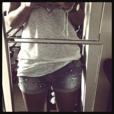 Studded shorts by me (: