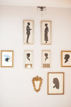 Cute idea: family silhouette wall  Read More: http://www.stylemepretty.com/living/2014/04/02/cooking-with-kids-worlds-best-brownie-recipe/