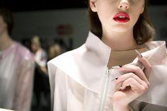 Toronto Fashion Week Spring 2013 backstage beauty: We test drive the nails at Ashtiani Black White Nails, Toronto Fashion Week, Nail Oil, Essie Nail Polish, Beauty Magazine, Beauty News, Glamour, Cool Nail Art, Stiletto Nails