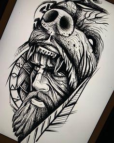 Viking Tattoo Sleeve, Norse Tattoo, Forearm Sleeve Tattoos, Best Sleeve Tattoos, Viking Tattoos, Arm Band Tattoo, Sketch Style Tattoos, Tattoo Design Drawings, Tattoo Sketches