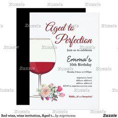 wine birthday invitation aged to perfection invitation invitation