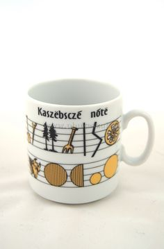 Kashubian cup with notes. For sale on www.phukaszub.pl