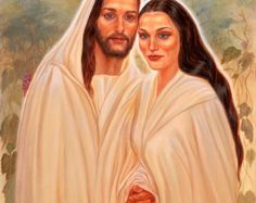 Jesus and Mary Magdalene pendant - the Beloveds by Cheryl Yambrach Rose