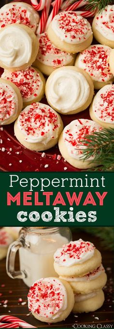 Peppermint Meltaway Cookies - A Christmas season MUST! They literally melt in your mouth.