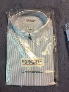 0eac2839b Lot Of 2 Roundtree & Yorke Mens striped button up shirts L NEW #fashion #