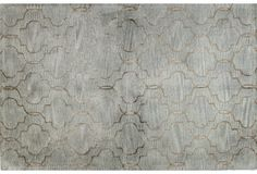 Curtain Rug, Silver/Copper