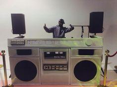 Cool DJ booth, with Grandmaster Flash!