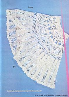 Witte rok gehaakt