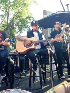 goodcharlotteworldwide:  The Madden Brothers playing at Maynard's in Minnetonka, MN 8-16-14  Photo taken by me  Please do not steal :)