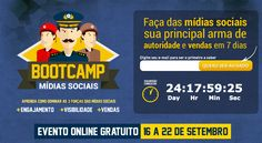 BootCamp Mídias Sociais – O Maior Evento Online de Mídias Sociais do Brasil - http://brasiliadigitalmarketing.com.br/marketing-digital/2014/08/22/bootcamp-midias-sociais-o-maior-evento-online-de-midias-sociais-do-brasil/