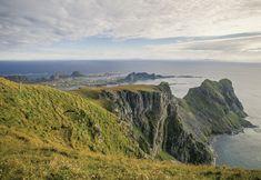 Værøy; utsikt fra Nupen.