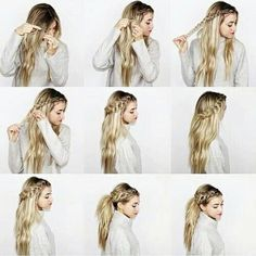 Image about hair in Haare by ivesammer on We Heart It Pretty Braided Hairstyles, Work Hairstyles, Unique Hairstyles, Easy School Hairstyles, Hair Color 2018, Latest Hair Color, Hair 2018, Pinterest Hair, Look Chic