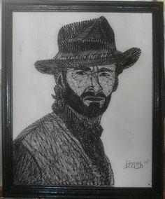 String Art Portrait The Hug Jackman For sell